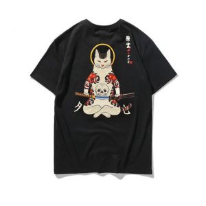 Samurai Ukiyo Cat T-Shirt