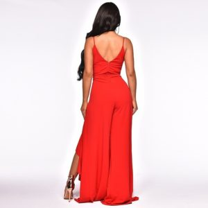 Off the Shoulder Sleeveless Ruby Ruffles Jumpsuit