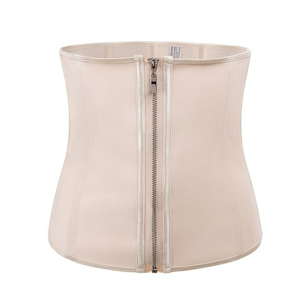 Latex Waist Shaper with Zipper Support