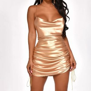 Ruched Bandage Mini Dress